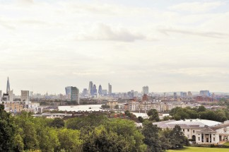 View from the Royal Observatory Greenwich